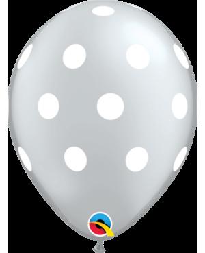 """Big Polka Dots 11"""" Silver  (25ct)"""