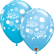 "11"" Baby Boy Blue Dots (Pale Blue- Robin´s) 25 Unid"