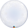 "24"" Deco Bubble - Frosty Snowflakes (Minimo 3 Unid)"