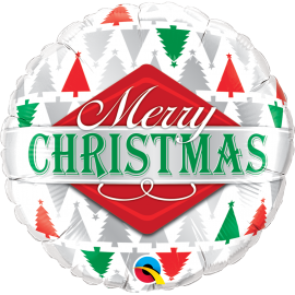 "Merry Christmas Tree Patterns 18"" (Minimo 3 Unid)"