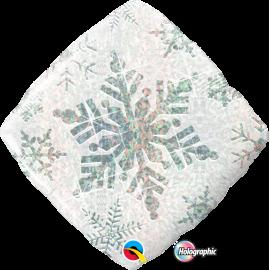 """Snowflake Sparkles White  18"""" (Minimo 3 unid)"""