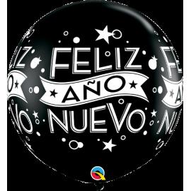 Feliz Año Nuevo-Onyx Black 2 unid  3´