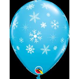 Snowflakes & Sparkles-A-Round - Ronbin's Egg Blue