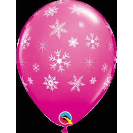 Snowflakes & Sparkles-A-Round - Wild Berry