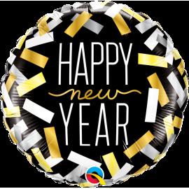 "New Year Confetti Strips 18"" (Minimo 3 Unid)"
