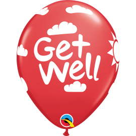 "Get Well Sunshine 11"" (Festive Asst) 25ct"