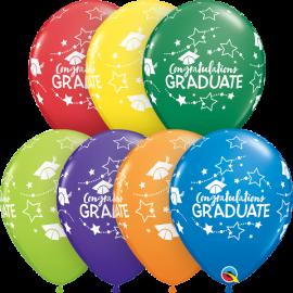 """11"""" Congratulations Graduate Stars (25 Unid)"""