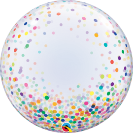 "24"" Deco Bubble - Colourful Confetti Dots (Minimo 3 Unid)"