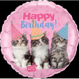 "18"" Studio Pets Birthday Kittens    (Minimo 3 Unid)"