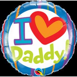 """18"""" I (Heart) Daddy (Minimo 3 Unid)"""