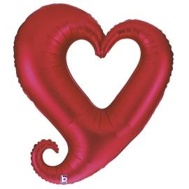 "37"" Corazón  Rojo Hueco  (Minimo 3 Unid)"