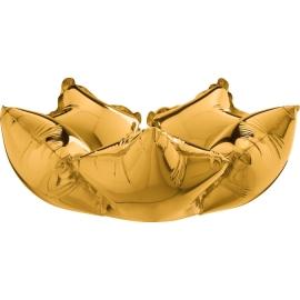 """16"""" Deco Star (Minimo 5 Unid) Gold"""