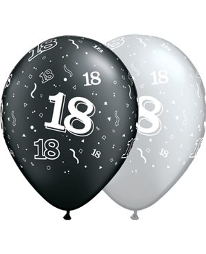 18-A-Round Pearl Onyx Black & Silver