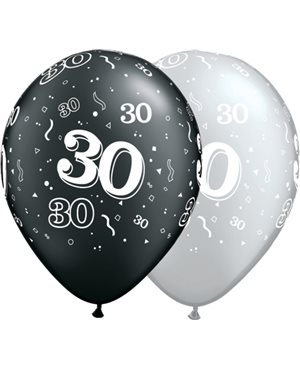 30-A-Round Pearl Onyx Black & Silver