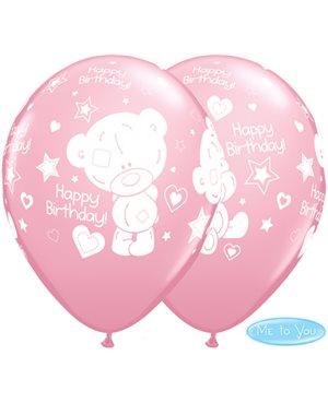 Globos Cumpleaños Tiny Tatty Teddy Rosa