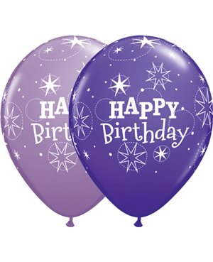 Birthday Sparkle - Purple Violet & Spring Lilac