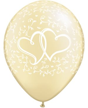 Entwined Hearts Pearl Ivory