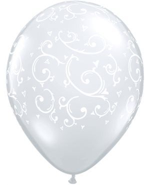 Filigree & Heart-A-Round Diamond Clear