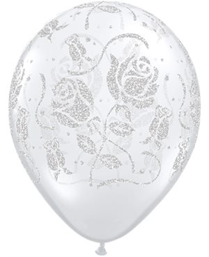 Glitter Roses-A-Round Diamond Clear