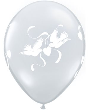 Love Doves Diamond Clear