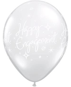 Engagement Elegant Sparkles Diamond Clear