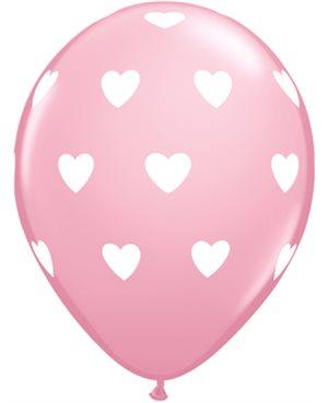 """Big Hearts - Pink 11"""" Bolsas de 6 Unid (Minimo 6 Bolsas)"""