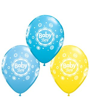 Baby Boy Dots - Yellow, Robin's Egg Blue & Pale Blue