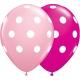 Big Polka Dots - Pink & Wild Berry