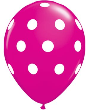Big Polka Dots - Pink & Wild Berry