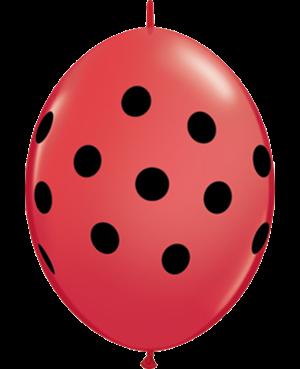 Big Polka Dots Quick Link - Red