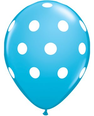 Big Polka Dots - Dark Blue & Robin's Egg Blue