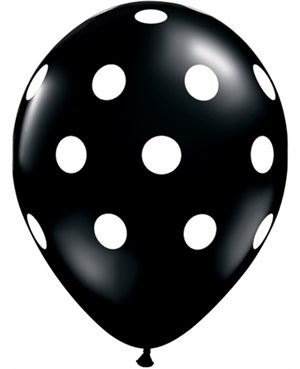 Big Polka Dots - Onyx Black & Jewel Magenta