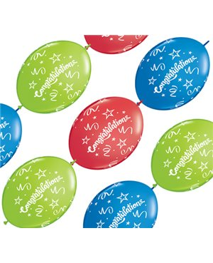 Congratulations Quick Link - Red, Lime Green & Dark Blue