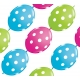 Big Polka Dots - Lime Green, Wild Berry & Robin's Egg Blue