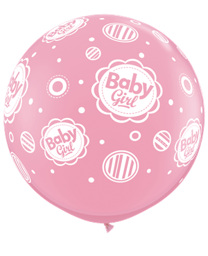 Baby Girl Dots-A-Round - Pink
