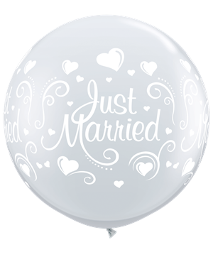 Just Married Hearts - Diamond Clear