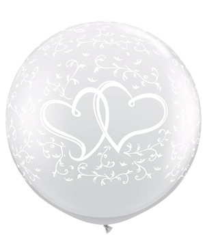 Entwined Hearts-A-Round - Diamond Clear