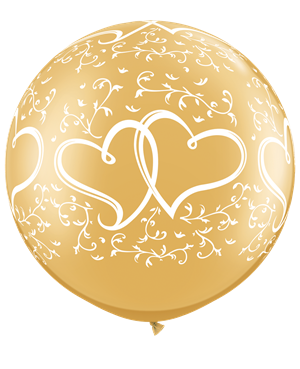 Entwined Hearts-A-Round - Gold