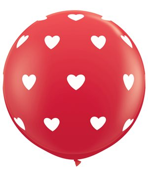 Big Hearts-A-Round - Red