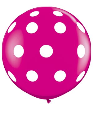 Big Polka Dots-A-Round - Wild Berry
