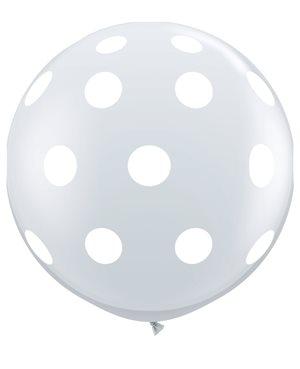 Big Polka Dots-A-Round - Diamond Clear