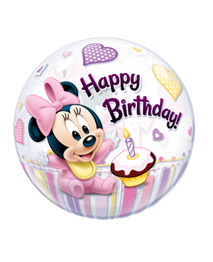 Bubbles Minnie Mouse 1st Birthday