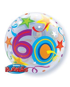 Bubbles 60 Birthday Stars