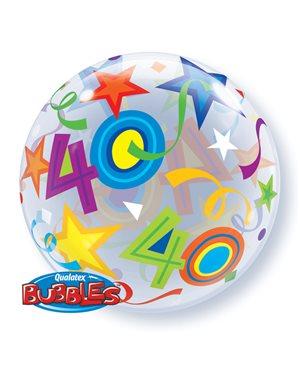 Bubbles 40 Birthday Stars