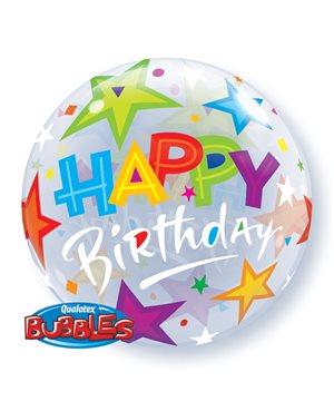 Bubbles Birthday Brilliant Stars