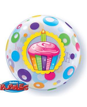 Bubbles Birthday Cupcake & Dots