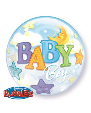 Bubbles Baby Boy Moon & Stars