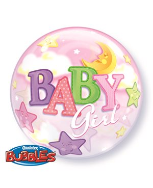 Bubbles Baby Girl Moon & Stars