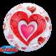 Bubbles Red Hearts & Filigree