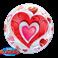 Bubbles Red Hearts & Filigree (Minimo 3 Unid)